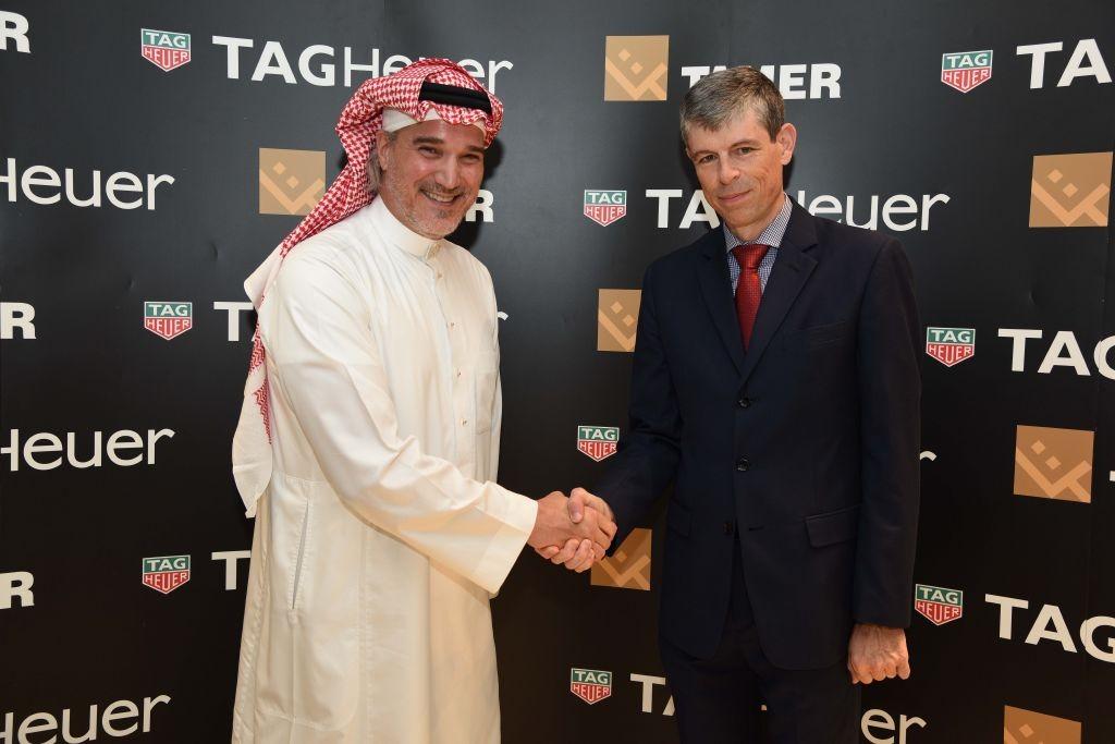 resized_السفير السويسري، والسيد محمد تمر خلال حفل الافتتاح