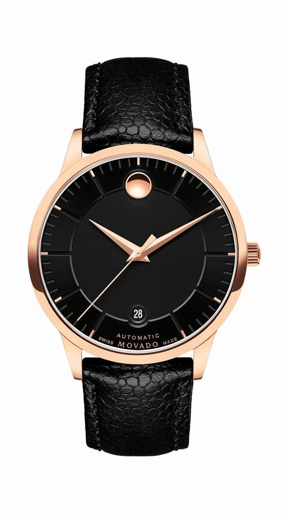 تصميم ساعة Movado يتبع الدرجات الغنيّة من الذهب الوردي