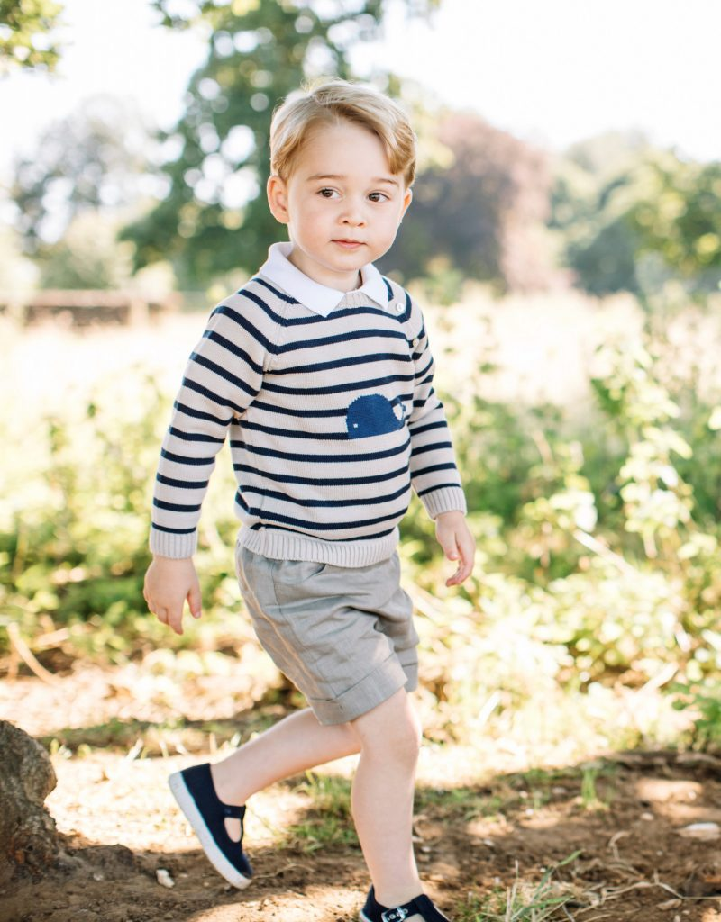 Britain's Prince George is seen in this photograph taken at his home in Norfolk