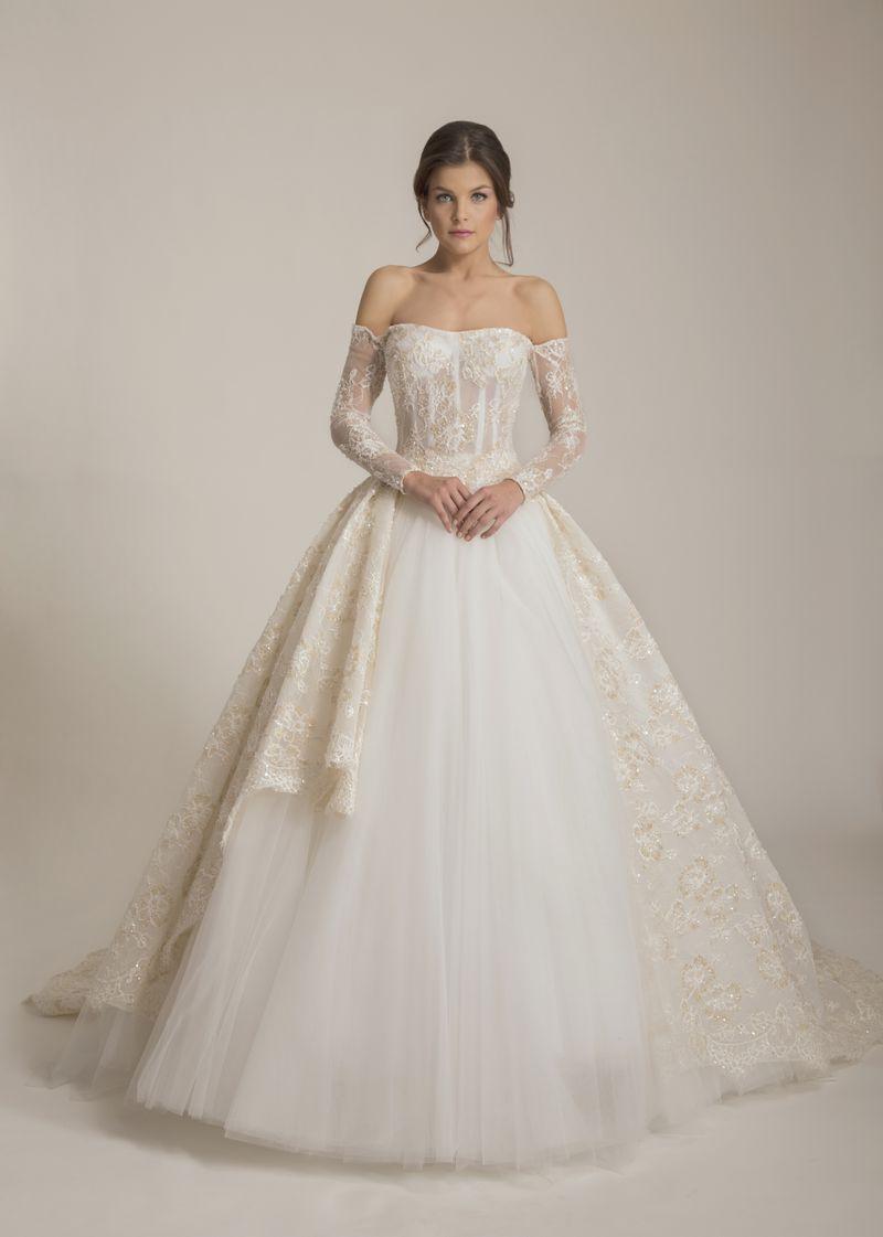 ccb6b50873fe6 موديلات فساتين زفاف طويلة 2017