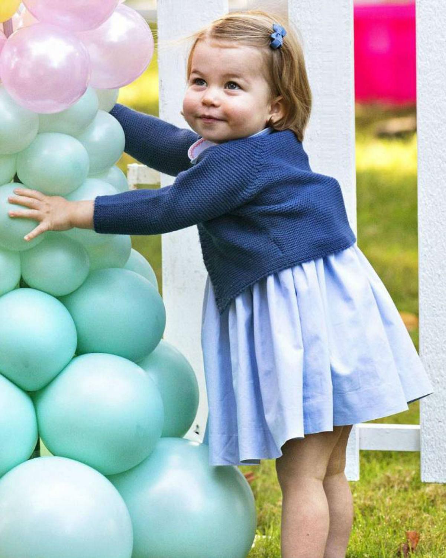 الأميرة شارلوت في عيد مولودها