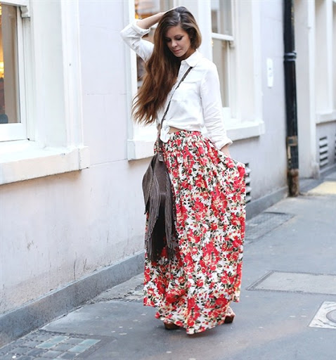 (15)maxi skirt outfit ideas for spring or summer 2015-2016