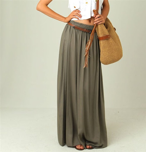 (16)maxi skirt outfit ideas for spring or summer 2015-2016