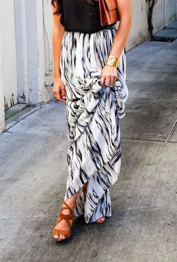 (4)maxi skirt outfit ideas for spring or summer 2015-2016