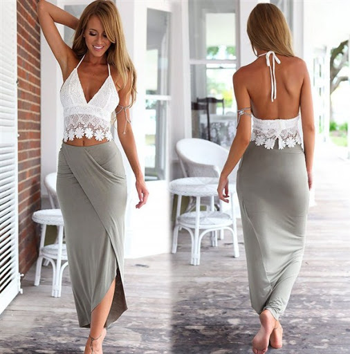 (8)maxi skirt outfit ideas for spring or summer 2015-2016