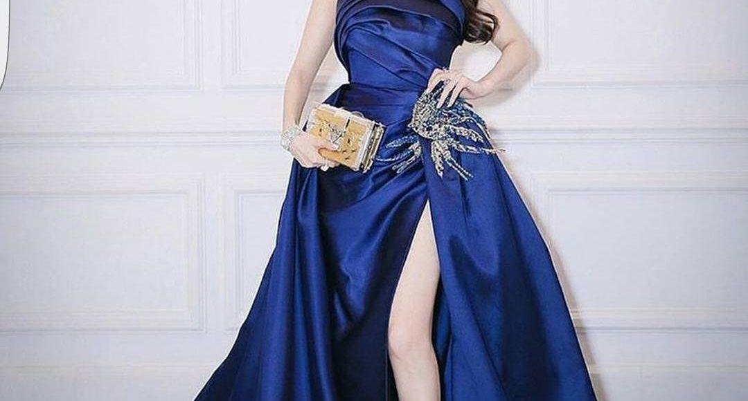 إطلالة أميرات ديزني بالأزرق المبهر