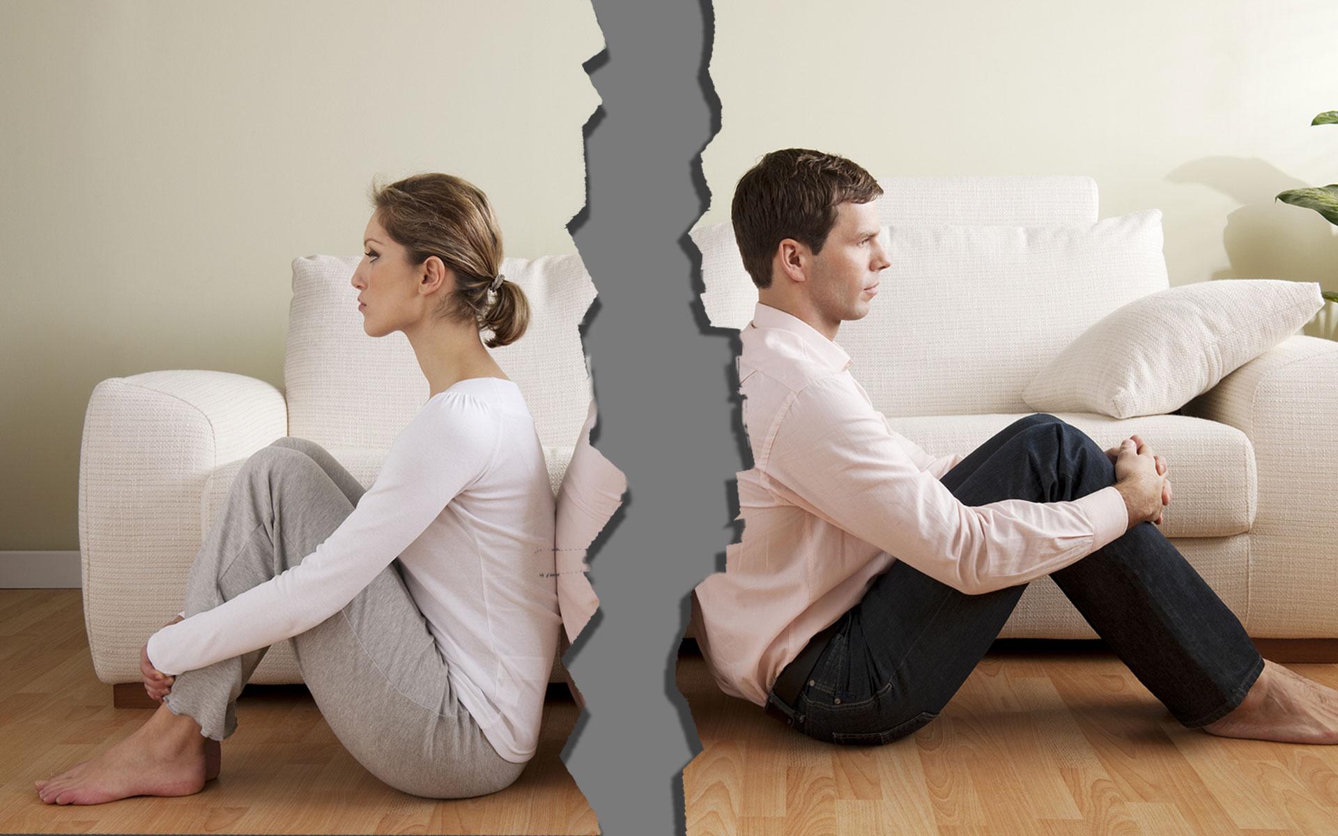 الطلاق بين الزوجين