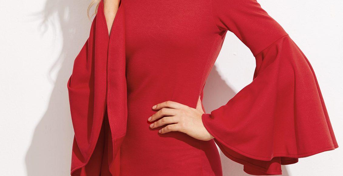 الفستان القصير باللون النبيتي الجذاب