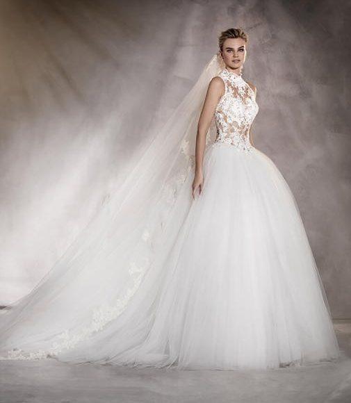 طرحة الزفاف مع التنورة المنفوشة
