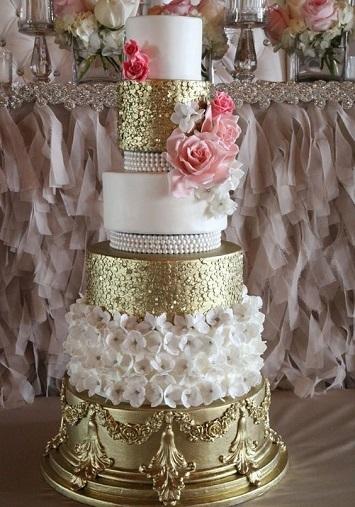 صور احدث تصميمات كيكات الزفاف لعروس 2017