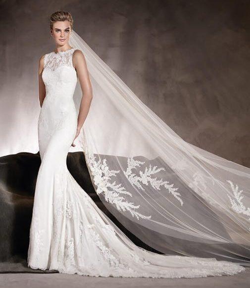 طرحة الزفاف بالنقوش الأنيقة