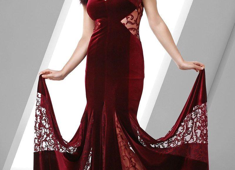 فستان نبيتي مخمل