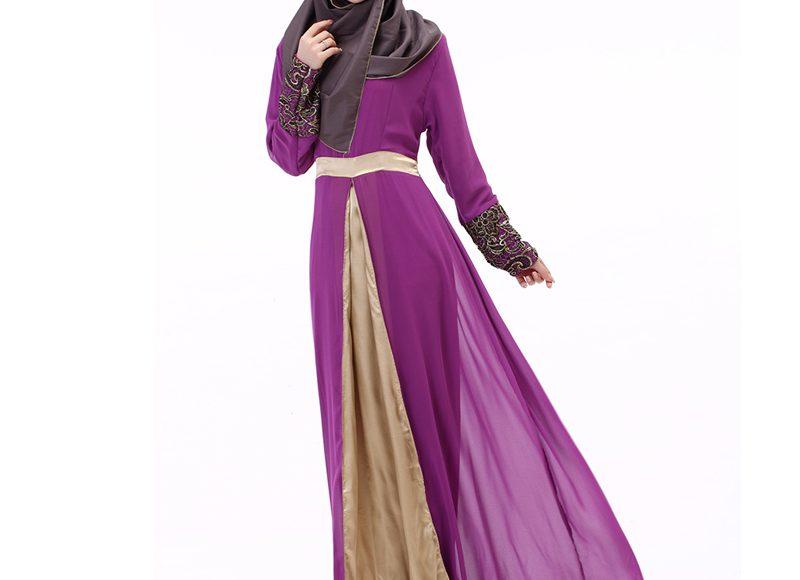 فستان هندي باللون الموف