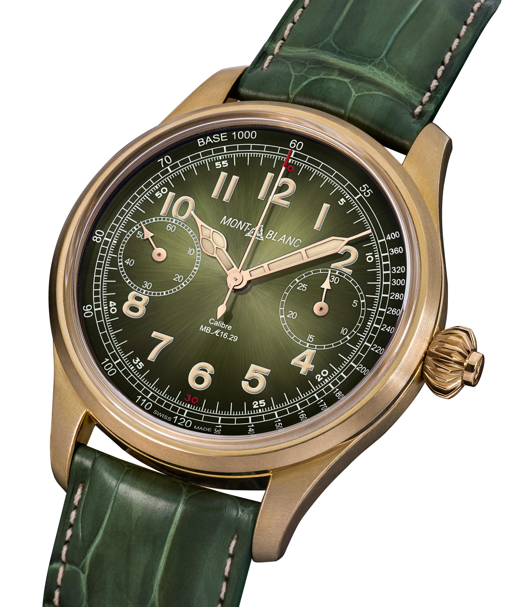 ساعة مون بلان 1858 كرونوغراف تاكيمتر قطعة فريدة - أونلي ووتش 2017