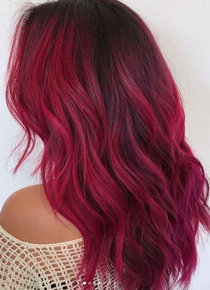 صبغة الشعر أروما كولور رقم ٢٧/ أحمر داكن