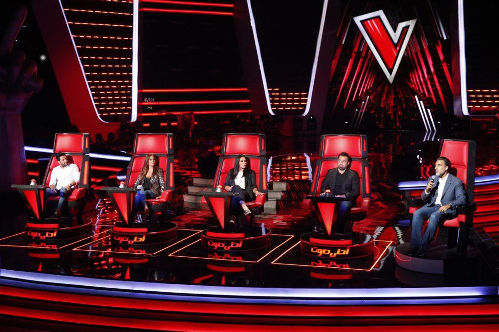 MBC1 & MBC MASR The Voice S4 Launch Press Conf- Four Coaches with Mazen Hayek