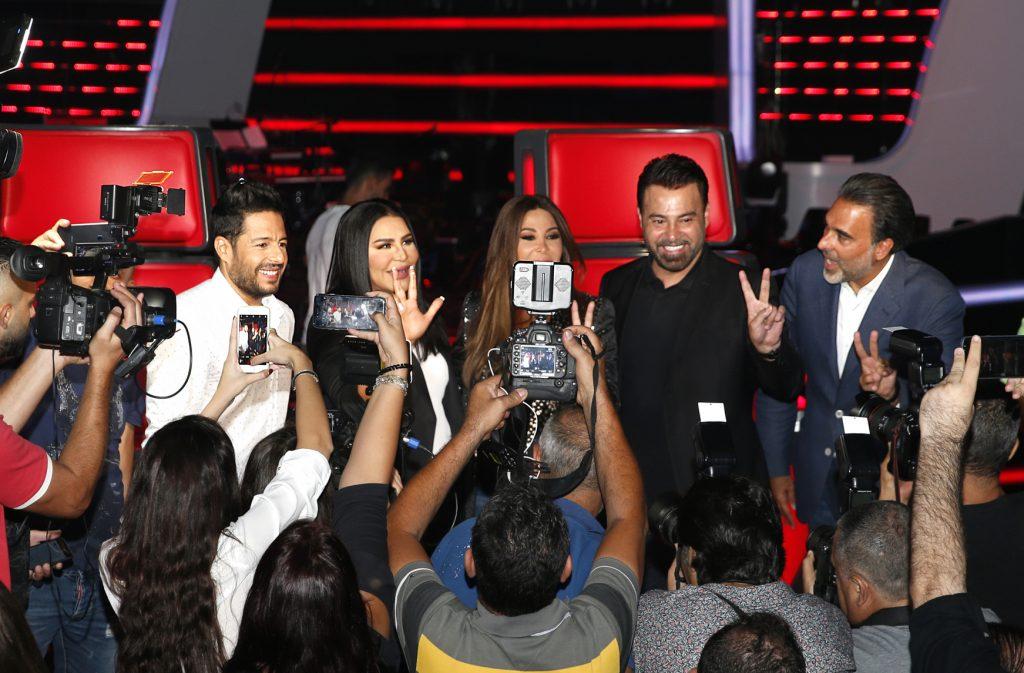 MBC1 & MBC MASR The Voice S4 Launch Press Conf- Four Coaches with Mazen Hayek talking to press