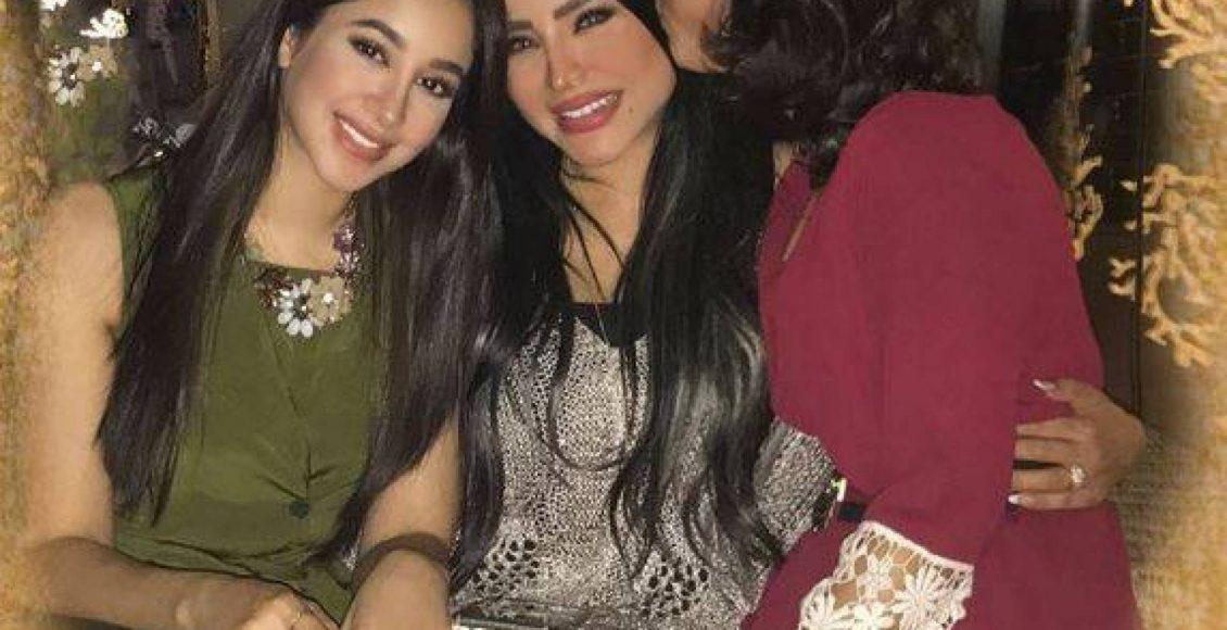 لجين مع أختها وابنتها