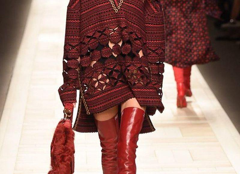 الكنزة الحمراء الفضفاضة من فندي