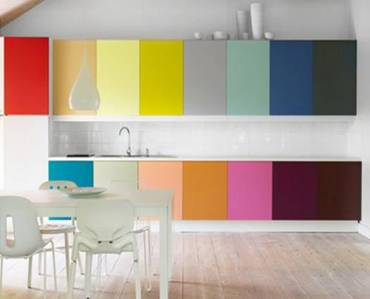 احدث ديكورات مطابخ بسيطة ملونة الراقية