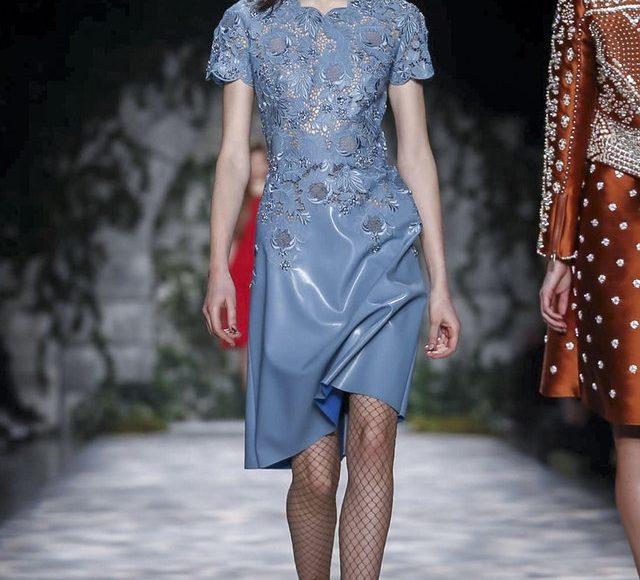 فستان خطوبة ازرق