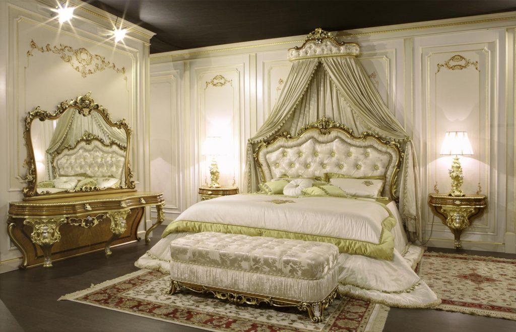 غرف نوم كلاسيك بتصاميم فخمة الراقية