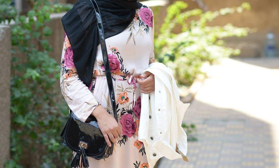 فستان فلوري ابيض