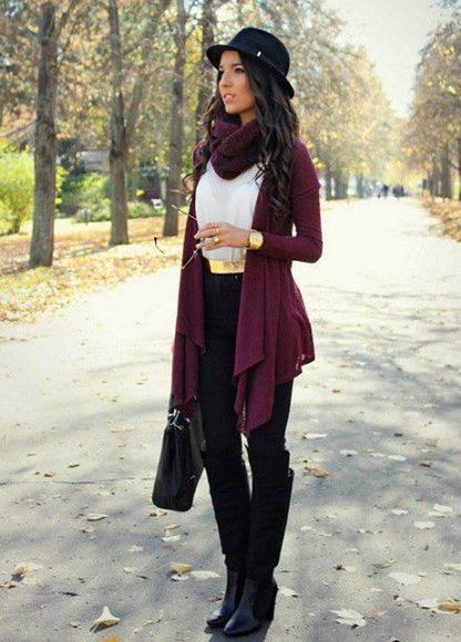 ملابس شتوية باللون النبيتي موضة 2018