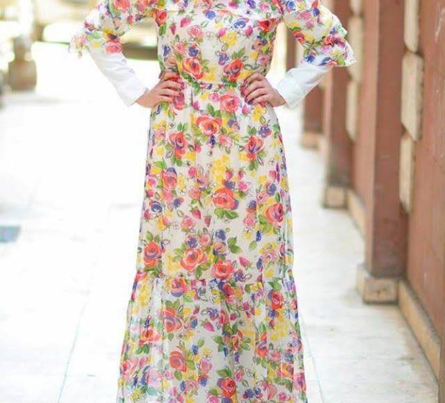 تصميم فستان محجبات اوف شوليدر