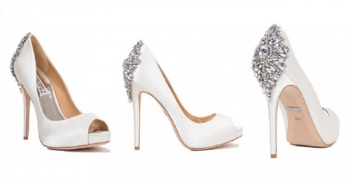 White Wedding Shoes Closed Toed
