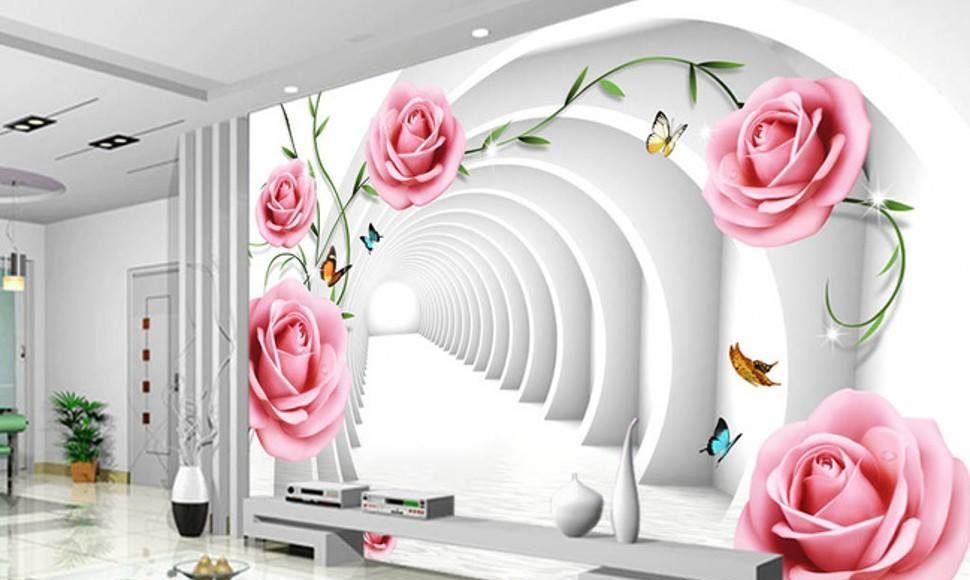 اشكال ورق جدران ثلاثي الابعاد ورود الراقية
