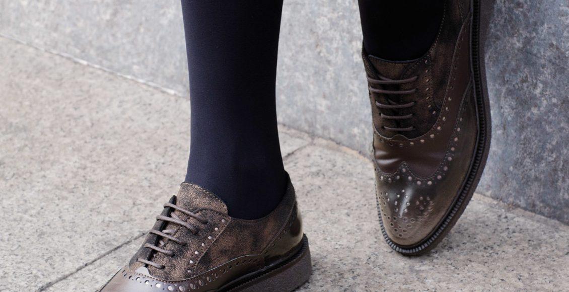 حذاء جلدي برقبة قصيرة