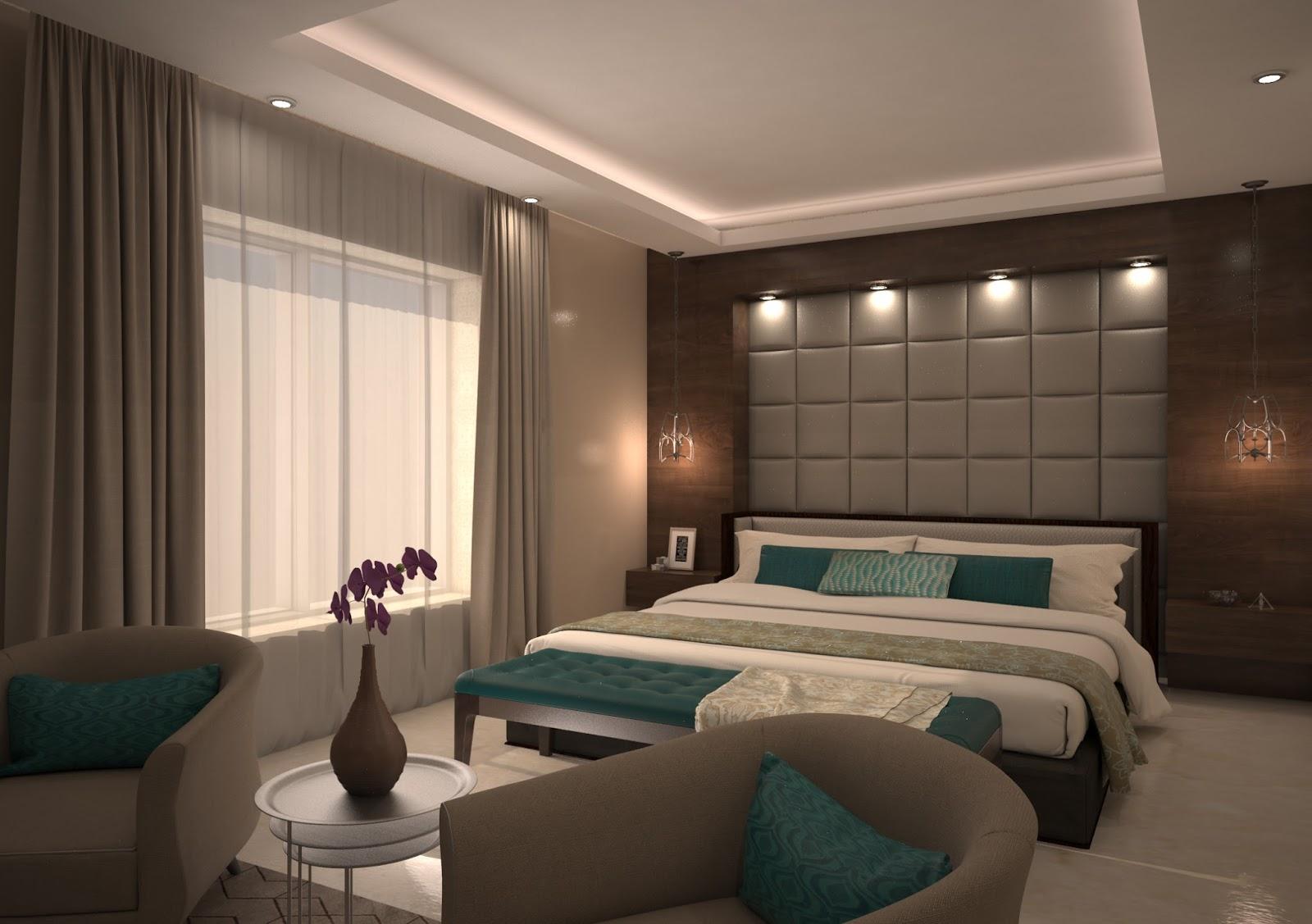 أفكار ديكورات جدران غرف النوم | الراقية