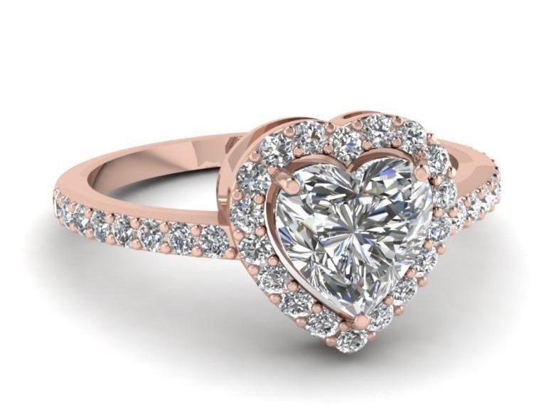خاتم الماس قلب