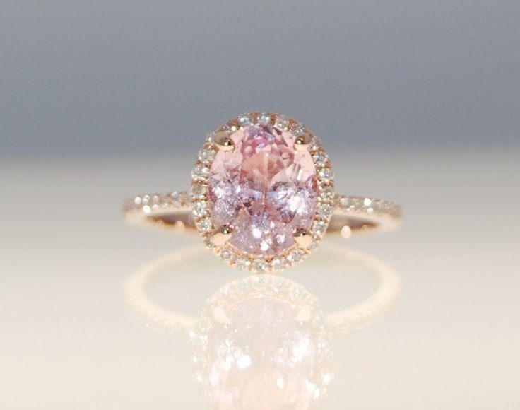 خاتم بالالماس الوردي