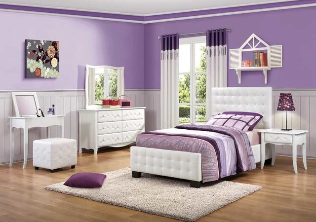 ديكورات غرف نوم بنات باللون الابيض | الراقية