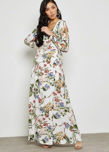 فستان ابيض فلورس