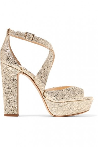 701ebf33a42bb احذية باللون الذهبي للعروس