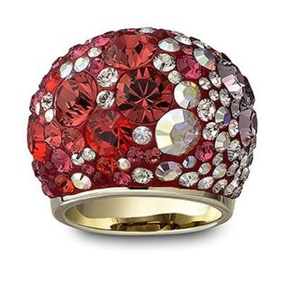 خاتم باللون الأحمر من شواروفسكي