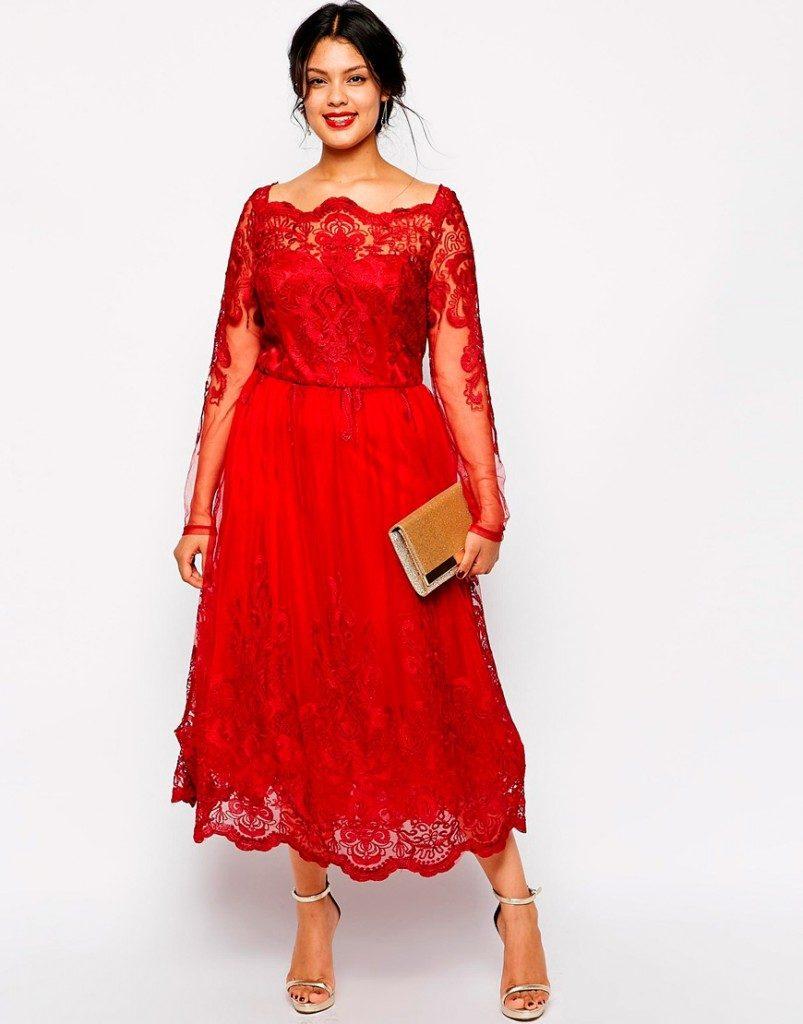 فستان-احمر-للسهرة