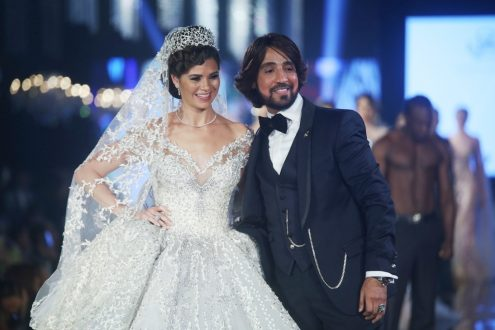 فستان زفاف بالالماس