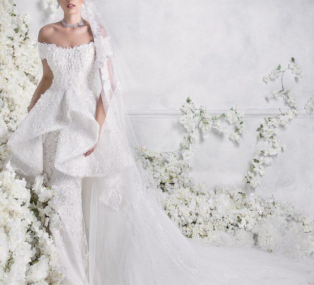 فستان زفاف بالكرانيش الرقيقة
