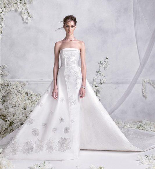 فستان زفاف بدون اكمام