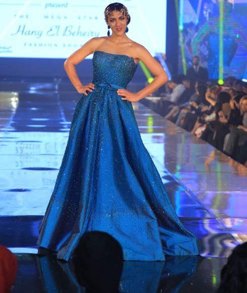 فستان سهرة أزرق