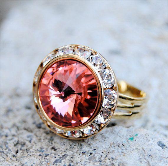swarovski crystal rings ruby rings