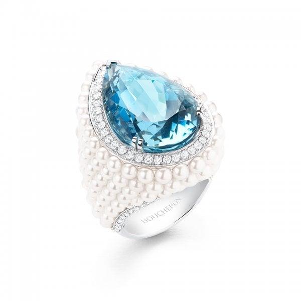 خاتم-بوشرون-بحجر-الأكوامارين-الأزرق-وللؤلؤ