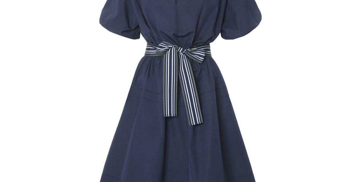 فستان صيفي أزرق اللون