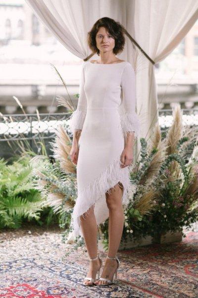 فستان-زفاف-ناعم-بالشراشيب-الكسندرا-جيريكو