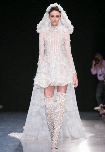 فستان قصير للزفاف