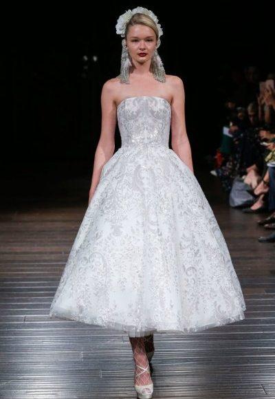 موديل فستان زفاف أسفل الركبة
